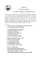 Chants Saint-Joseph14 mai 2017
