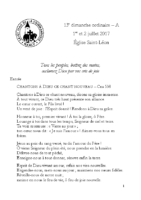 Chants Saint-Léon2 juillet 2017