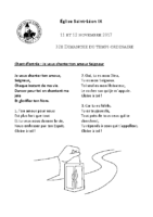 Chants Saint-Léon12 novembre 2017