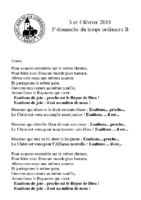 Chants Saint-Léon4 février 2018