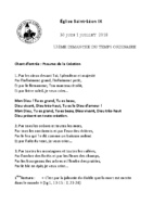 Chants Saint-Léon1er juillet 2018