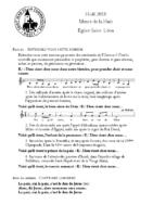 Chants Saint-LéonVeillée et messe nuit de Noël
