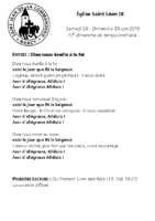 Chants Saint-Léon30 juin 2019