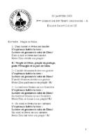 Chants Saint-Léon26 janvier 2020