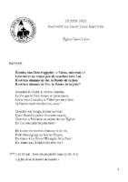 Chants Saint-Léon28 juin 2020