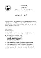 Chants Saint-Joseph5 juillet 2020