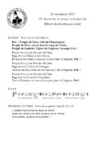 Chants Saint-Léon du20 septembre 2020