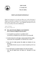 Chants Saint-JosephToussaint 2020