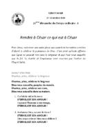 Chants Saint-Joseph18 octobre 2020