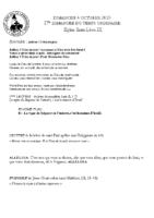 Chants Saint-Léon4 octobre 2020