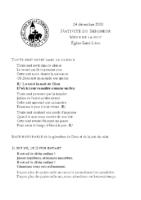 Messe de la nuit de NoëlSaint-Léon 24 décembre 2020