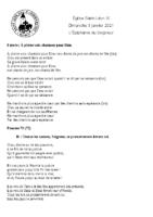 Chants Saint-Léon3 janvier 2021