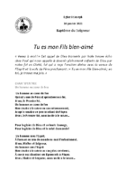Chants Saint-Joseph10 janvier 2021