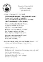 Chants Saint-Léon10 janvier 2021