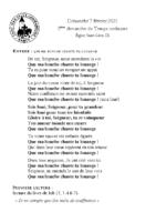 Chants Saint-Léon7 février 2021