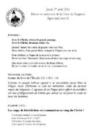 Chants Saint-LéonJeudi Saint – 2021