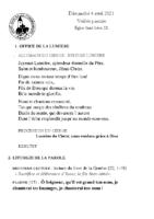 Chants Saint-LéonVigile Pascale 2021