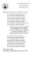 Chants Saint-Léondu 30 mai 2021La Sainte Trinité