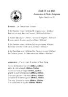 Chants Saint-Léon13 mai 2021Ascension