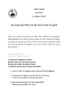 Chants Saint-Joseph30 mai 2021La Sainte Trinité