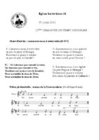 Chants Saint-Léon27 juin 2021