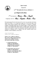 Chants Saint-Joseph13 juin 2021