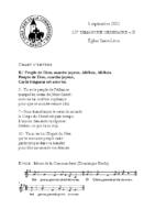 Chants Saint-Léon5 septembre 2021