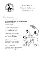 Chants Saint-LéonRameaux 9 avril 2017