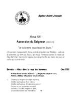 Chants Saint-JosephAscension  201725 mai 2017