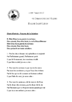 Chants Saint-Léon7 mai 2017