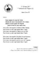 chants Saint-Léon28 mai 2017