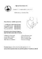 Chants Saint-Léon4 juin 2017Pentecôte