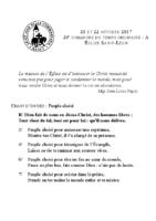 Chants Saint-Léon22 octobre 2017