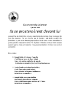 Chants Saint-Joseph7 janvier 2018