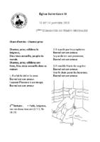 Chants Saint-Léon14 janvier 2018