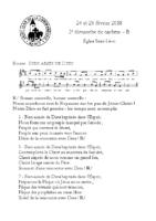 Chants Saint-Léon25 février 2018