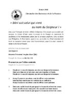 Chants Saint-JosephRameaux25 mars 2018