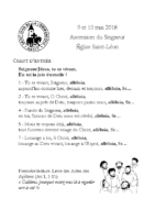 Chants Saint-LéonAscension 2018