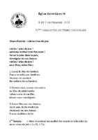 Chants Saint-Léon9 septembre 2018