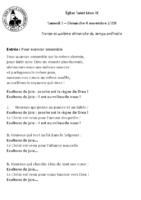 Chants Saint-Léon4 novembre 2018