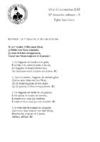 Chants Saint-Léon11 novembre 2018