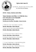 Chants Saint-Léon25 novembre 2018Le Christ-Roi