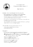 Chants Saint-Léon20 janvier 2019