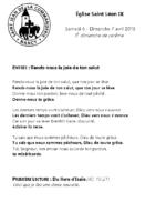 Chants Saint-Léon7 avril 2019