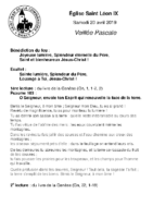 Vigile Pascale20 avril 2019