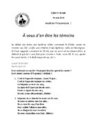 Chants Saint-JosephAscension 2019
