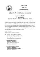 Chants Saint-JosephLa Sainte Trinité