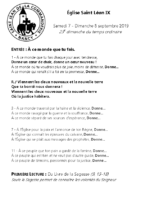 Chants Saint-Léon8 septembre 2019