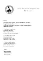 Chants Saint-Léon15 septembre 2019