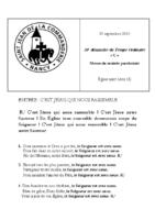 Chants Saint-Léon29 septembre 2019